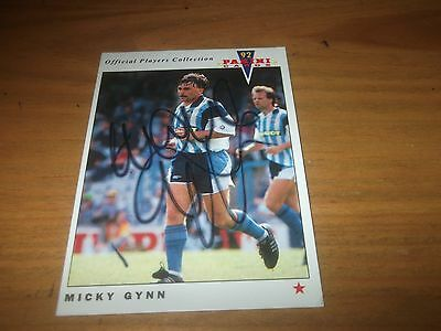 Panini 92  Micky Gynn   Coventry City  Signed Card