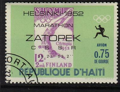 Olympics Helsinki 1952 Finland Marathon Cto Never Hinged Stamps On Stamps Haiti