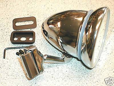 Clip On Chrome Racing Bullet Mirror. Triumph & Mg/ Kits