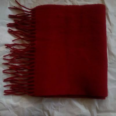100% Cashmere Women's Shawl in Ruby Red