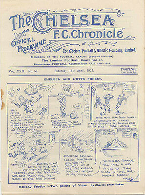 1926-27 Chelsea v Nottingham Forest Football League Division Two