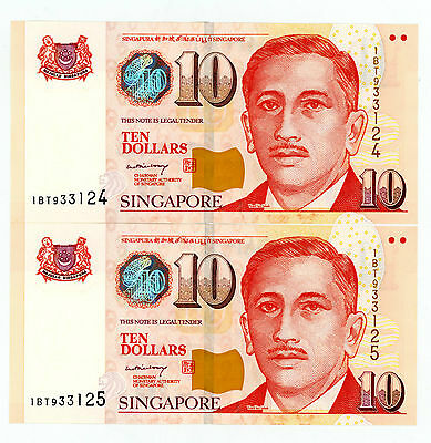 Singapore … P-48a … 10 Dollars … ND(2005) … *UNC*  Consecutive Pair.