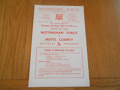 Nottingham Forest V Notts County  1967 County Cup Final