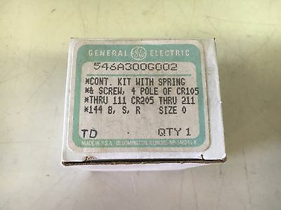 Ge 546A300G002 New In Box Contact Kit 4P Cr105 Size 0 See Pics #b43