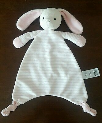 Marks And Spencer Bunny Comforter Baby Soft Toy Striped Rabbit - M&s Bunny Vgc