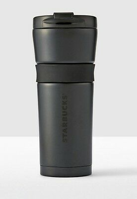 Starbucks Stainless Steel Tumbler Soft Touch  BLACK 16 fl oz NIB