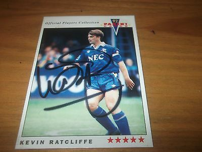 Panini 92 Kevin Ratcliffe  Everton    Signed Card