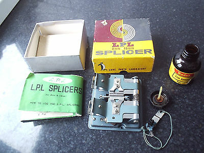 Vintage 1966 LPL 8mm And 16mm Cine Film Splicer In Original Box - Made in Japan