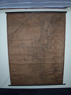 Antique 1779 New York State Wall Map Long Island Connecticut Vermont NH Restored