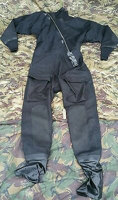 Black Immersion Suit Large Aircrew Flyers DrySuit Dry UKSF SAS RAF RN