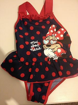 Minnie Mouse swimming costume 18-24 months