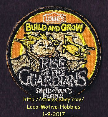 LMH PATCH Badge  2012 RISE GUARDIANS  Sandman's Plane  LOWES Build Grow Sandman