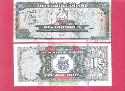 HAITI  p265a - 10 gourde - 2000 Uncirculated
