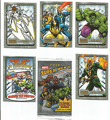 Marvel Superheroes Cards + Wrapper From Perdue Chicken (Usa)