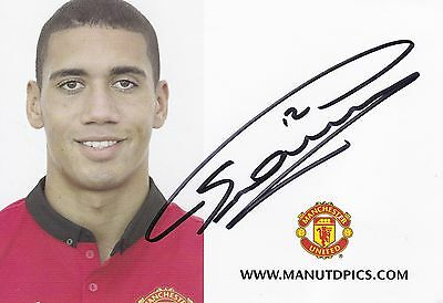 CHRIS SMALLING - Man Utd - Hand Signed Club Promo Card