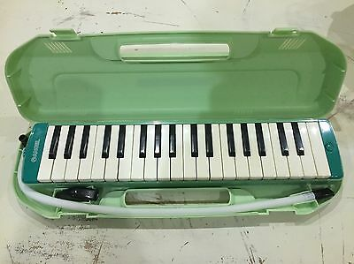 Angel Melodyhorn Melodica AM-37K3 in Turquoise green blue with green Case