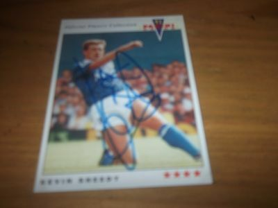 Panini 92 Kevin Sheedy    Everton    Signed Card
