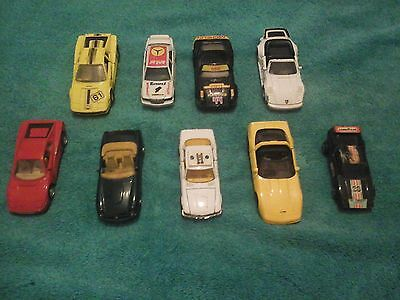 Joblot /collection Of 9 Diecast Sports Cars Collectable