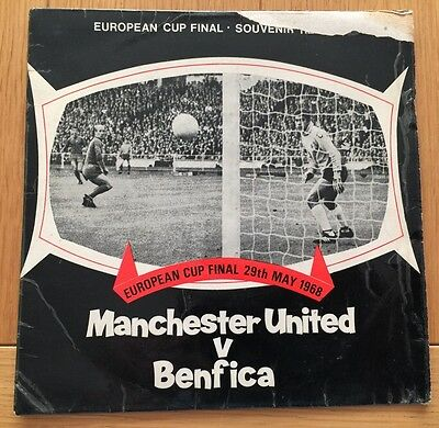 manchester utd cup final single 1968