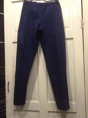Training Trousers  Cotton  Drill Navy size Small /  Ankle Zips ** NEW **