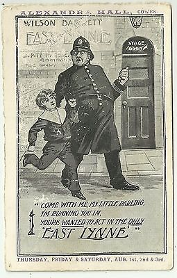 Advertising postcard Cowes isle of Wight Alexander Hall Theatre Policeman Child