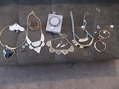 mixed lot of costume jewellery some New