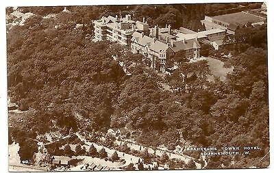 Hants postcard Bournemouth Branksome tower hotel aerial view