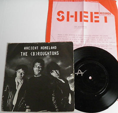 "Broughtons-Ancient Homeland-UK 7"" + INSERT-Private Minimal Synth Wave-1982-HEAR"