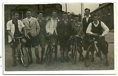 Herts postcard Royden  Cyclists in street