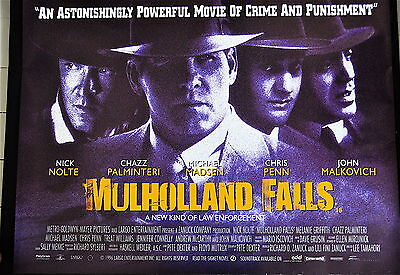 MULHOLLAND FALLS (Lee Tamahori 1996) UK quad poster.