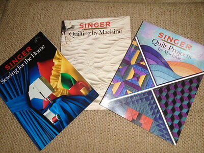 Singer Sewing Reference Library Books Lot of 3