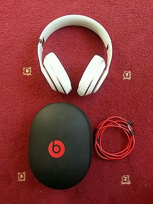 Genuine Beats By Dr. Dre Studio 2.0 Headphones - WHITE WIRED