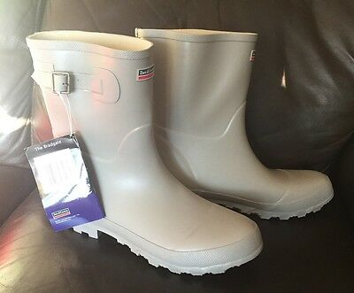 Town & Country 'The Bradgate' STONE Half Length Wellington Boots Wellies Size 9