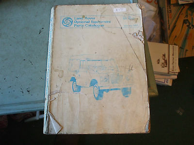 Land Rover optional equipment parts book catalogue 1977