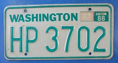 1988 Washington Diesel Truck License Plate Hp3702                         Ul3805