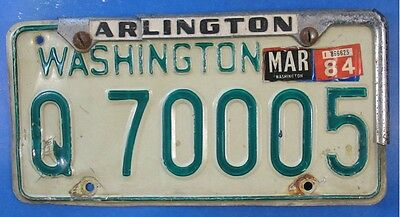 1984 Washington Trailer License Plate Q70005                              Ul3790