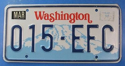 1993 Washington Car License Plate 015-Efc                                 Ul3863