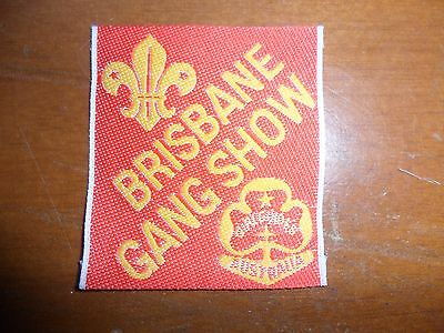 Brisbane Gang Show - Red Scout Cloth Badge #