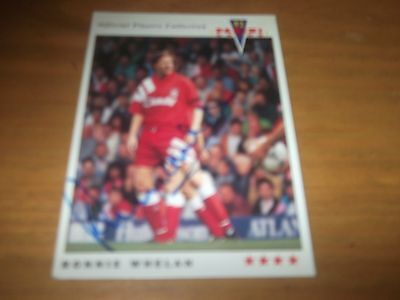 Panini 92 Ronnie Whelan Liverpool Signed Card