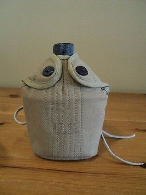 Original US M1910 Canteen & Cup w/M1941 Mounted (and Airborne) Cover & Hanger