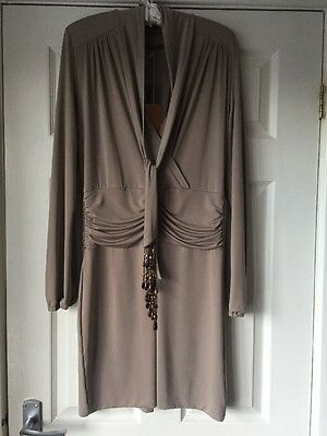 NWT Hunters And Gatherers Taupe Dress L Taupe 14