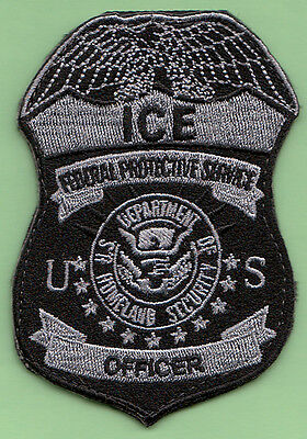 E1 *#1 Fps Subdued Gray Srt Hrt Dhs Ice Usbp Federal Agency Fbi Police Patch