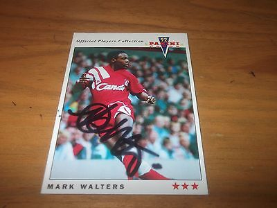 Panini 92 Mark Walters   Liverpool Signed Card