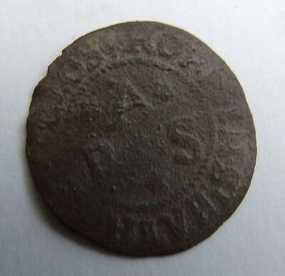 Scarce 17th Century Traders Token (Detector Find)