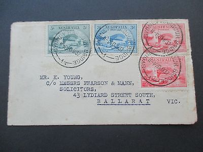 Australian Pre decimal Stamps Covers: 5/- Bridge on Cover Incredibly RARE!