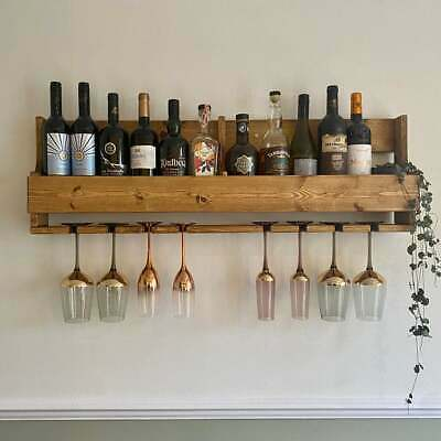 Large rustic reclaimed quirky pallet wood wine prosecco rack