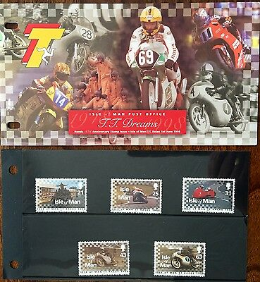 A MINT SET OF ISLE OF MAN 'TT DREAMS' HONDA 50th ANNIVERSARY  STAMPS