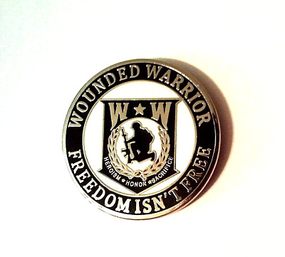 Wounded Warrior Freedom isn't Free Hat Pin   1""