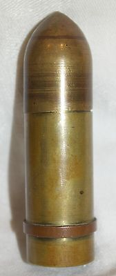 Vintage Trench Art Style Brass Bullet Artillery Shaped Lighter WWI ~ WWII