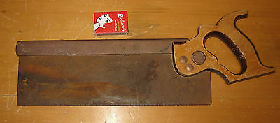 VINTAGE TENON SAW DOVETAILING WARRANTED SUPERIOR woodwork carpentry cabinet